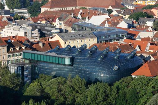 Graz「Austria, Styria, Graz, View of museum and contemporary art」:スマホ壁紙(12)