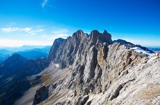 Dachstein Mountains「Austria, Styria, Salzkammergut, Dachstein, View from Hunerkogel to Hoher Dachstein, Dachstein massif」:スマホ壁紙(11)