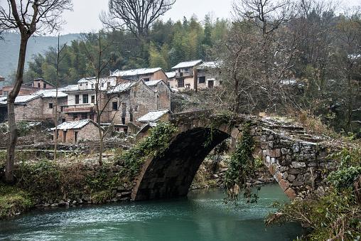 Arch Bridge「The scenery of Qingjiang village in Guangdong province,China」:スマホ壁紙(11)