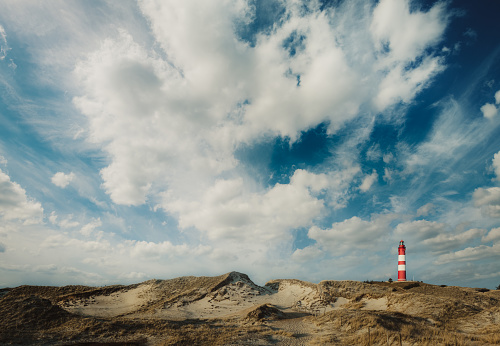 Cow「Coast Landscape with a lighthouse, Island of Amrum」:スマホ壁紙(3)