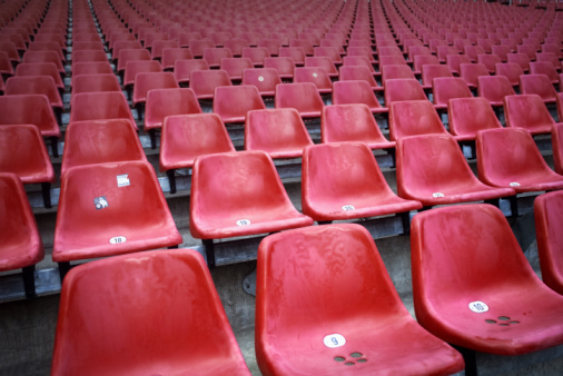 Conformity「red chairs at a stadium」:スマホ壁紙(8)