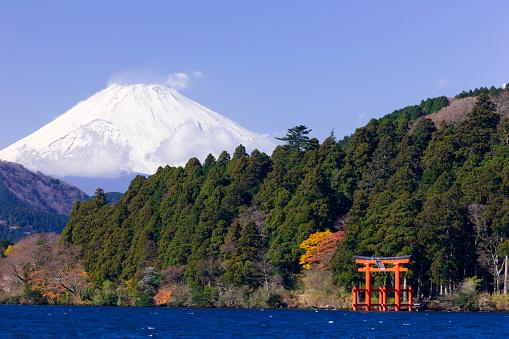 Kanagawa Prefecture「Mt Fuji and Torii」:スマホ壁紙(19)