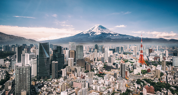 Famous Place「Mt. Fuji and Tokyo Skyline」:スマホ壁紙(19)
