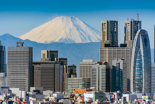 Mt Fuji「Mt Fuji and Shinjuku buildings」:スマホ壁紙(18)
