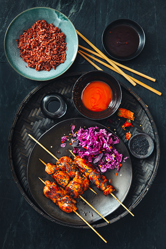 Chili Sauce「Negima Yakitori. Glazed Japanese grilled chicken skewers」:スマホ壁紙(11)