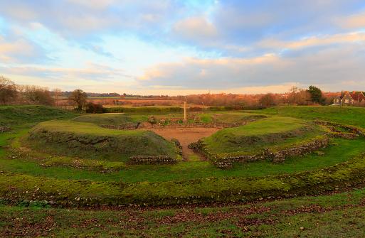Roman「Ruins of the Roman theatre at Verulamium, St Albans, Hertfordshire」:スマホ壁紙(14)