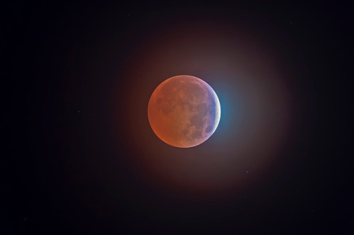 皆既月食「Lunar eclipse」:スマホ壁紙(11)