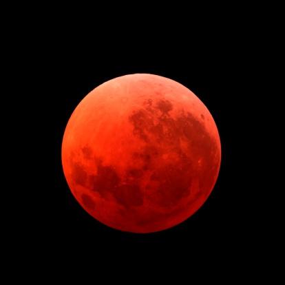 皆既月食「Lunar eclipse taken on April 15, 2014.」:スマホ壁紙(9)