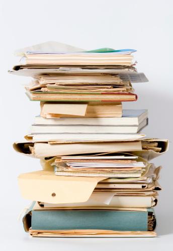 Manuscript「Pile of accumulated paperwork」:スマホ壁紙(14)