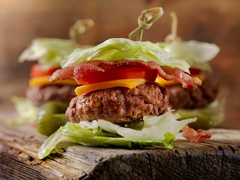 Ketogenic Diet「Low Carb - Lettuce Wrap Sliders」:スマホ壁紙(1)