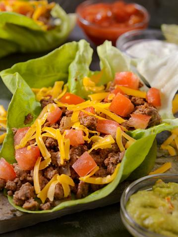 Sour Cream「Low Carb - Lettuce Wrap Beef Taco」:スマホ壁紙(14)