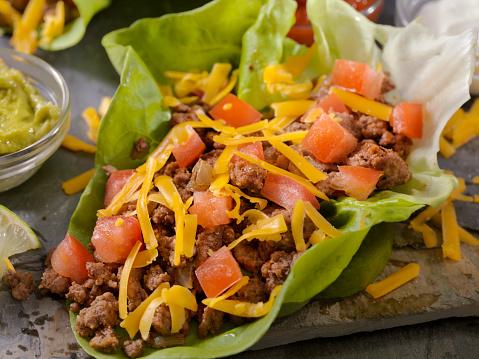 Sour Cream「Low Carb - Lettuce Wrap Beef Taco」:スマホ壁紙(13)