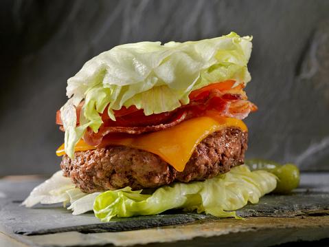 Ketogenic Diet「Low Carb - Lettuce Wrap Bacon CheeseBurger」:スマホ壁紙(11)