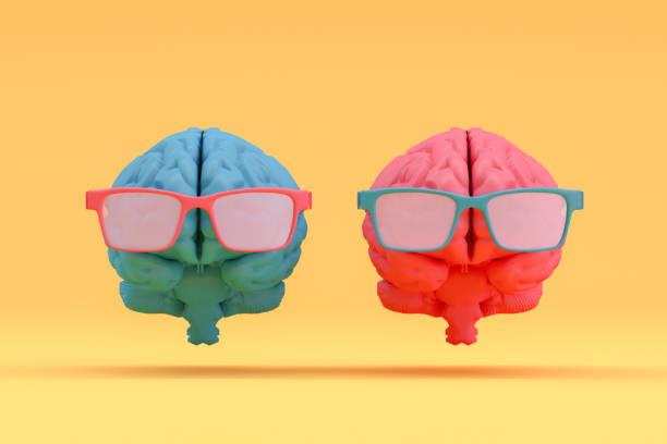 Brain with Eyeglasses, Artificial Intelligence Concept:スマホ壁紙(壁紙.com)