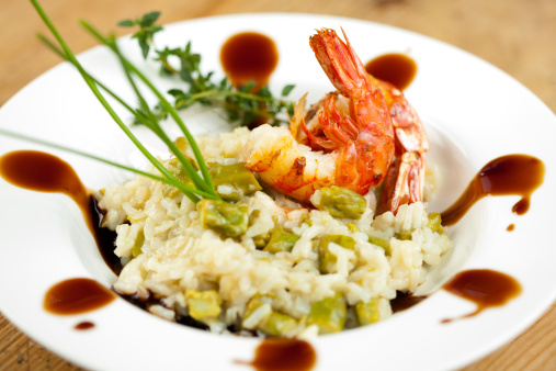 Asparagus「Jumbo shrimp and asparagus risotto」:スマホ壁紙(19)