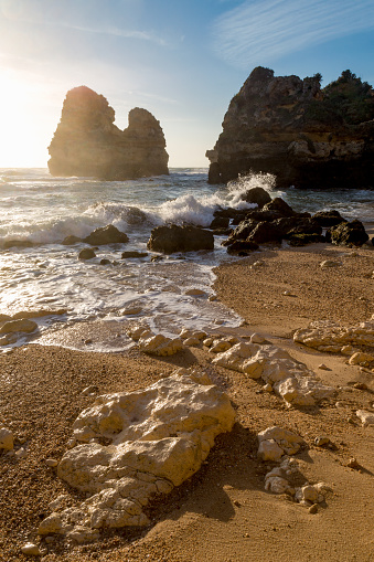 波「Praia do Camilo near Lagos, Algarve」:スマホ壁紙(10)