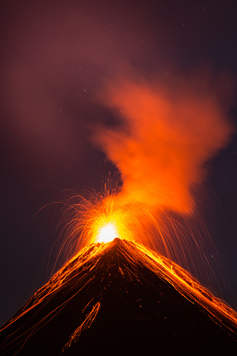 Active Volcano「Fuego volcano eruption」:スマホ壁紙(2)