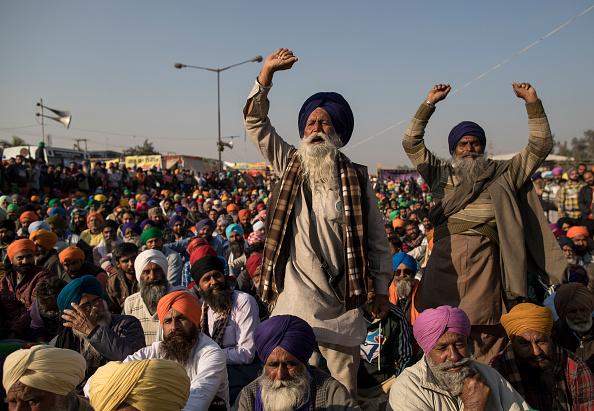 Protest「Farmers Continue Blockade Of Highways Leading Into Delhi」:写真・画像(10)[壁紙.com]