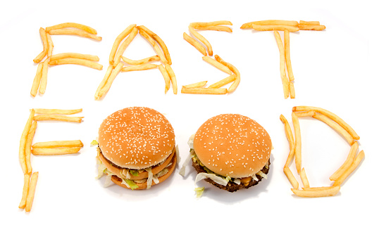 Fat - Nutrient「Fast food spelled with French fries and hamburgers」:スマホ壁紙(12)