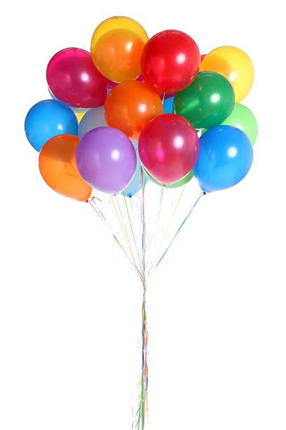 Bunch of Balloons Isolated on White:スマホ壁紙(壁紙.com)