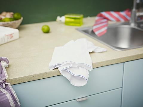 Lingerie「Panties on a kitchen counter」:スマホ壁紙(15)