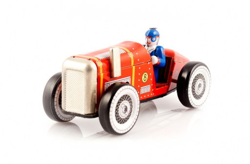 Number「Red metal toy car with driver」:スマホ壁紙(2)