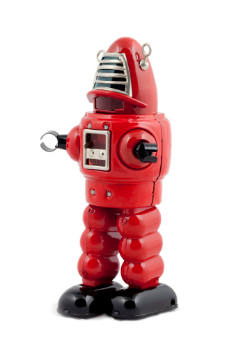 Furious「Red metal toy robot isolated」:スマホ壁紙(18)