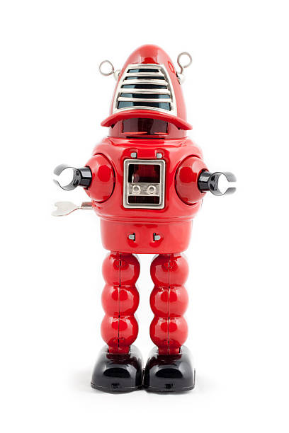 Red metal toy robot:スマホ壁紙(壁紙.com)