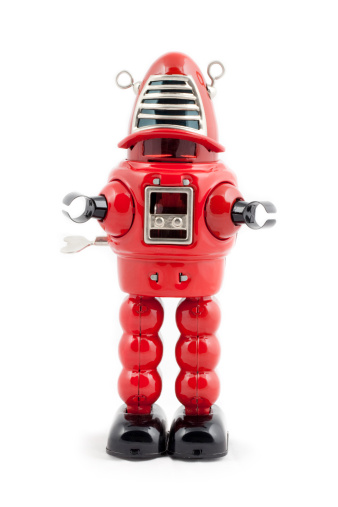 Machinery「Red metal toy robot」:スマホ壁紙(17)