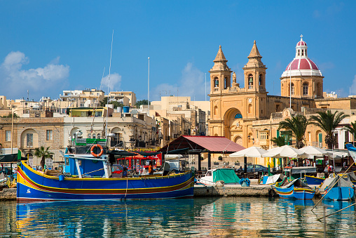 Maltese Islands「Malta, Marsaxlokk, fishing village harbour」:スマホ壁紙(17)