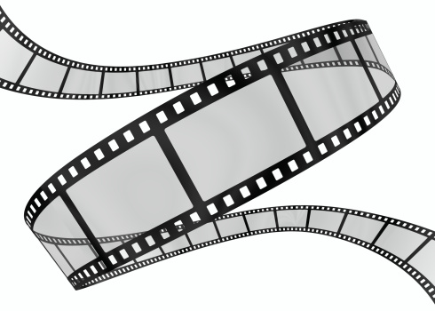 Film Reel「3d film spiral on white」:スマホ壁紙(3)