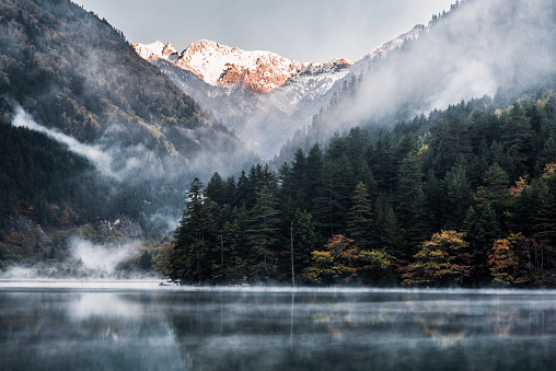 Mountain Range「Jiuzhaigou national park」:スマホ壁紙(3)