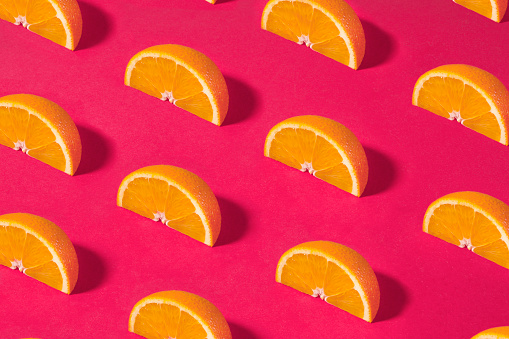 Turkey - Middle East「Orange Fruit Pattern on Pink Background」:スマホ壁紙(0)