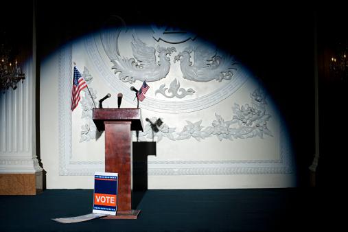 Politics「A podium」:スマホ壁紙(15)