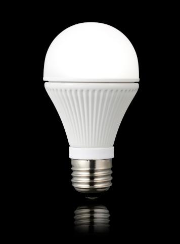 LED Light「LED light bulb against a black background」:スマホ壁紙(15)