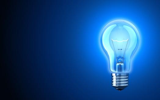 Intelligence「Light bulb providing blue light」:スマホ壁紙(3)
