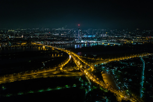 Elevated Road「Vienna panorama at night」:スマホ壁紙(12)