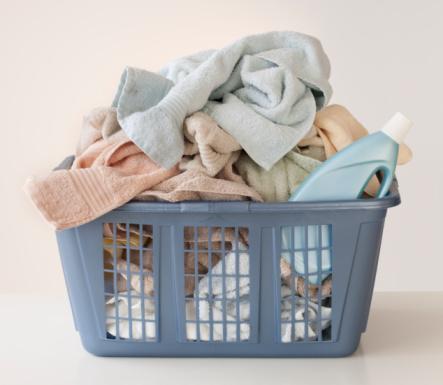 Laundry「A laundry basket full of towels」:スマホ壁紙(2)