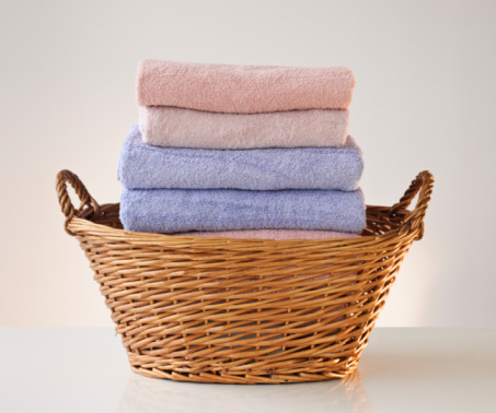 Basket「A laundry basket full of towels」:スマホ壁紙(15)