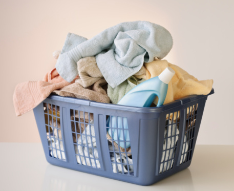 Laundry「A laundry basket full of towels」:スマホ壁紙(7)