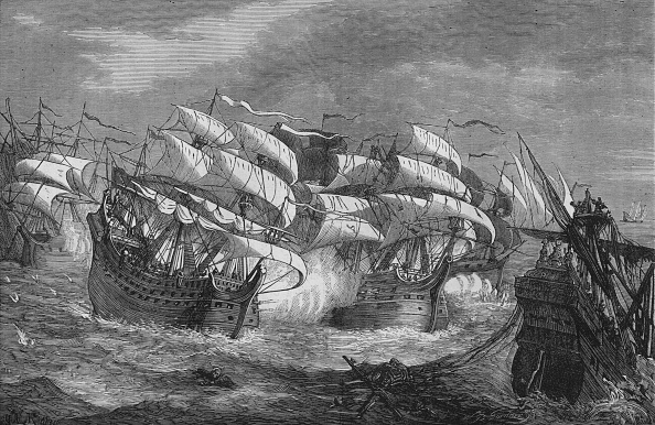 Elizabethan Style「'Drake Attacking the Spanish Treasure Ship', c1578, (c1880)」:写真・画像(18)[壁紙.com]