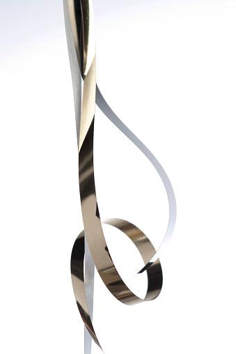 アクションショット「Fluid movements of metallic paper」:スマホ壁紙(15)