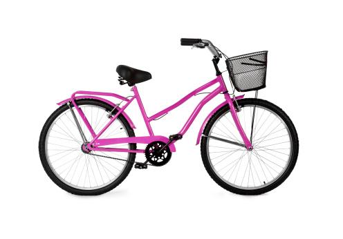 自転車「ピンクの自転車/フルクリッピングパス」:スマホ壁紙(8)