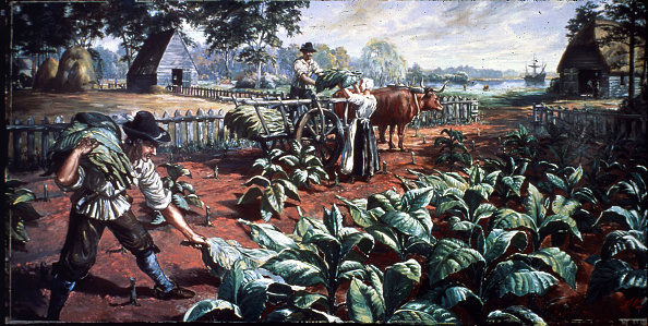 Farm「Harvesting Tobacco In Early Virginia」:写真・画像(18)[壁紙.com]