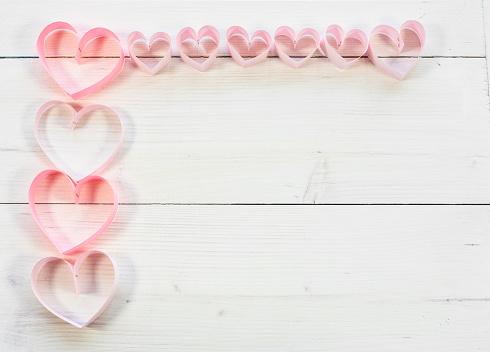 月「Pink hearts and copy space. Debica, Poland」:スマホ壁紙(18)