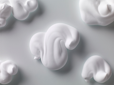 Gray Background「Foam form」:スマホ壁紙(9)