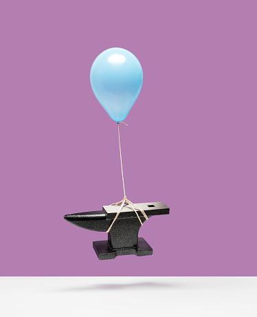 Balloon「Balloon lifting an anvil」:スマホ壁紙(12)