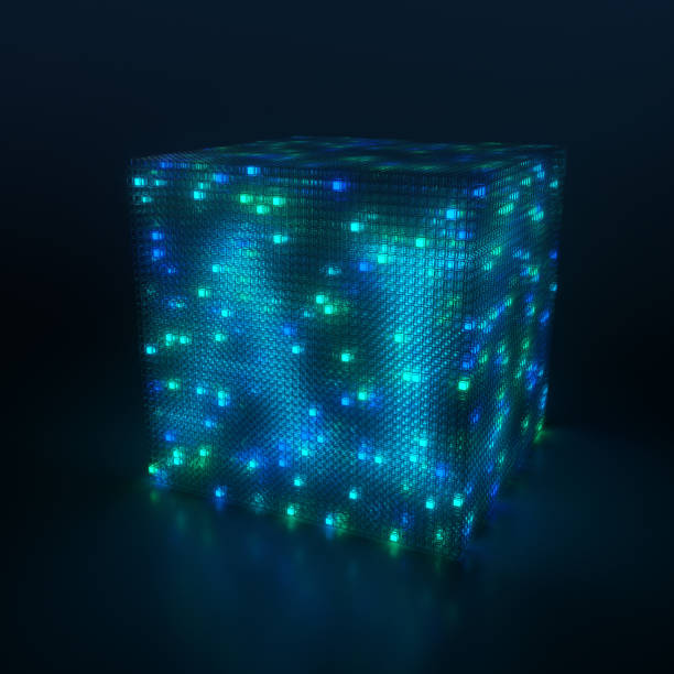 3D cube and artificial intelligence:スマホ壁紙(壁紙.com)