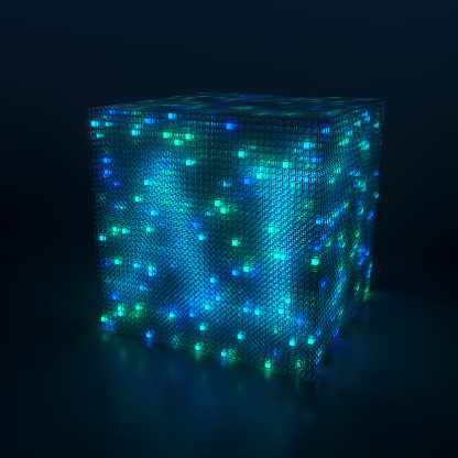 Quantum Computing「3D cube and artificial intelligence」:スマホ壁紙(4)