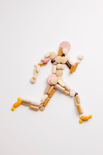 Male Likeness「Vitamin pills in shape of man running」:スマホ壁紙(14)